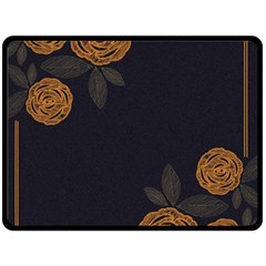 Floral Roses Seamless Pattern Vector Background Fleece Blanket (large)  by Nexatart
