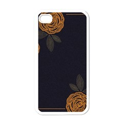 Floral Roses Seamless Pattern Vector Background Apple Iphone 4 Case (white) by Nexatart