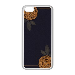 Floral Roses Seamless Pattern Vector Background Apple Iphone 5c Seamless Case (white) by Nexatart