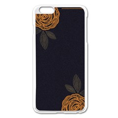Floral Roses Seamless Pattern Vector Background Apple Iphone 6 Plus/6s Plus Enamel White Case by Nexatart