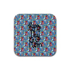 Happy Mothers Day Celebration Rubber Square Coaster (4 Pack)  by Nexatart
