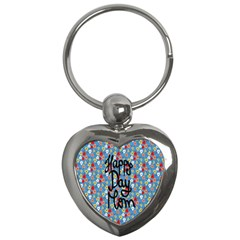 Happy Mothers Day Celebration Key Chains (heart)  by Nexatart