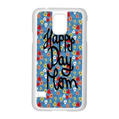 Happy Mothers Day Celebration Samsung Galaxy S5 Case (white) by Nexatart