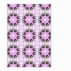 Pretty Pink Floral Purple Seamless Wallpaper Background Small Garden Flag (two Sides) by Nexatart