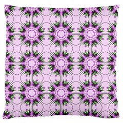Pretty Pink Floral Purple Seamless Wallpaper Background Standard Flano Cushion Case (one Side) by Nexatart