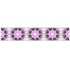 Pretty Pink Floral Purple Seamless Wallpaper Background Flano Scarf (large) by Nexatart