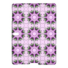 Pretty Pink Floral Purple Seamless Wallpaper Background Samsung Galaxy Tab S (10 5 ) Hardshell Case  by Nexatart