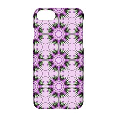 Pretty Pink Floral Purple Seamless Wallpaper Background Apple Iphone 7 Hardshell Case by Nexatart