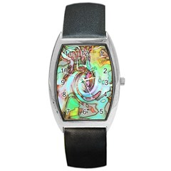 Art Pattern Barrel Style Metal Watch by Nexatart