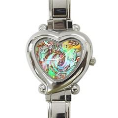 Art Pattern Heart Italian Charm Watch by Nexatart
