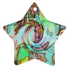 Art Pattern Star Ornament (two Sides) by Nexatart