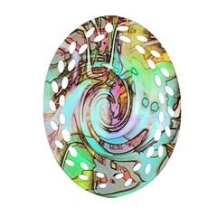 Art Pattern Oval Filigree Ornament (two Sides) by Nexatart