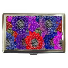 Colorful Background Of Multi Color Floral Pattern Cigarette Money Cases by Nexatart