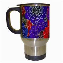 Colorful Background Of Multi Color Floral Pattern Travel Mugs (white) by Nexatart