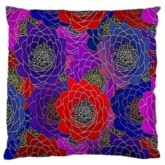 Colorful Background Of Multi Color Floral Pattern Large Cushion Case (two Sides) by Nexatart