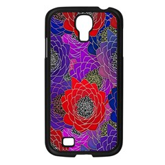 Colorful Background Of Multi Color Floral Pattern Samsung Galaxy S4 I9500/ I9505 Case (black) by Nexatart
