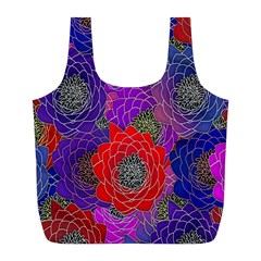 Colorful Background Of Multi Color Floral Pattern Full Print Recycle Bags (l)  by Nexatart