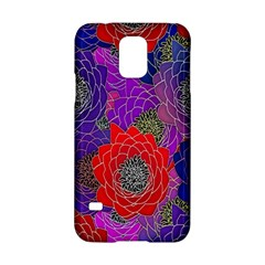Colorful Background Of Multi Color Floral Pattern Samsung Galaxy S5 Hardshell Case  by Nexatart
