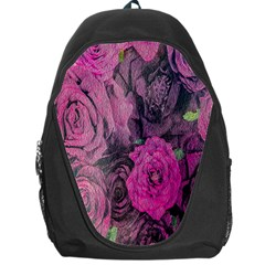 Oil Painting Flowers Background Backpack Bag by Nexatart