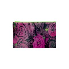 Oil Painting Flowers Background Cosmetic Bag (xs) by Nexatart