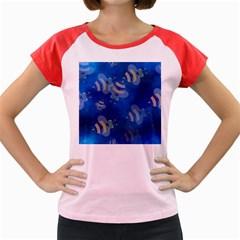 Seamless Bee Tile Cartoon Tilable Design Women s Cap Sleeve T Shirt by Nexatart