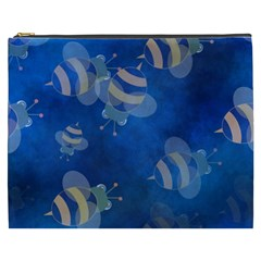 Seamless Bee Tile Cartoon Tilable Design Cosmetic Bag (XXXL)  by Nexatart