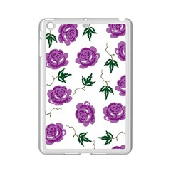 Purple Roses Pattern Wallpaper Background Seamless Design Illustration Ipad Mini 2 Enamel Coated Cases by Nexatart