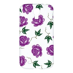 Purple Roses Pattern Wallpaper Background Seamless Design Illustration Samsung Galaxy S4 I9500/i9505 Hardshell Case by Nexatart