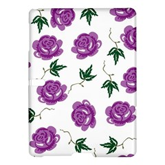 Purple Roses Pattern Wallpaper Background Seamless Design Illustration Samsung Galaxy Tab S (10 5 ) Hardshell Case  by Nexatart