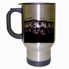 Bubbles In Red Wine Travel Mug (silver Gray) by Nexatart