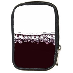 Bubbles In Red Wine Compact Camera Cases by Nexatart