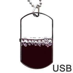 Bubbles In Red Wine Dog Tag Usb Flash (one Side) by Nexatart