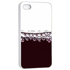 Bubbles In Red Wine Apple iPhone 4/4s Seamless Case (White)