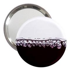 Bubbles In Red Wine 3  Handbag Mirrors by Nexatart