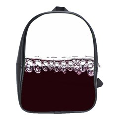 Bubbles In Red Wine School Bags (xl)  by Nexatart