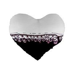 Bubbles In Red Wine Standard 16  Premium Heart Shape Cushions by Nexatart