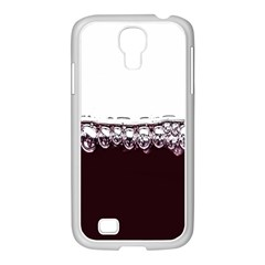 Bubbles In Red Wine Samsung Galaxy S4 I9500/ I9505 Case (white) by Nexatart
