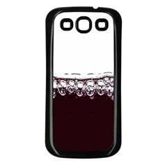 Bubbles In Red Wine Samsung Galaxy S3 Back Case (black) by Nexatart