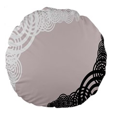 Circles Background Large 18  Premium Flano Round Cushions by Nexatart