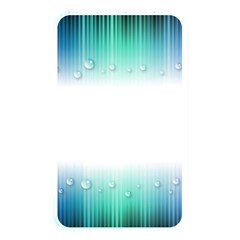 Blue Stripe With Water Droplets Memory Card Reader