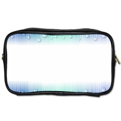 Blue Stripe With Water Droplets Toiletries Bags 2 Side by Nexatart
