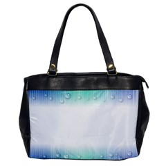 Blue Stripe With Water Droplets Office Handbags by Nexatart