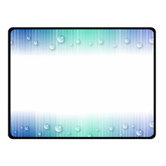 Blue Stripe With Water Droplets Fleece Blanket (small) by Nexatart