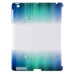 Blue Stripe With Water Droplets Apple Ipad 3/4 Hardshell Case (compatible With Smart Cover) by Nexatart