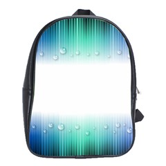 Blue Stripe With Water Droplets School Bags (xl)  by Nexatart