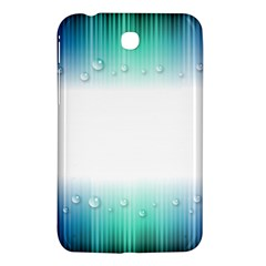Blue Stripe With Water Droplets Samsung Galaxy Tab 3 (7 ) P3200 Hardshell Case  by Nexatart
