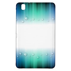 Blue Stripe With Water Droplets Samsung Galaxy Tab Pro 8 4 Hardshell Case by Nexatart