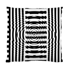 Black And White Abstract Stripped Geometric Background Standard Cushion Case (two Sides)