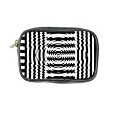 Black And White Abstract Stripped Geometric Background Coin Purse by Nexatart