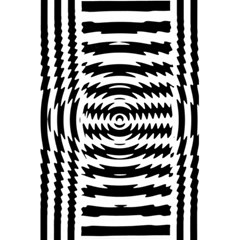 Black And White Abstract Stripped Geometric Background 5 5  X 8 5  Notebooks by Nexatart
